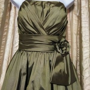 Mori Lee Formal Green Strapless Dress